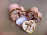 Hearted Gift Box with Decorated Ribbon Bowknot