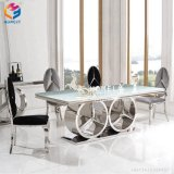 Wholesale Foshan Model White PU Leather Stainless Steel Chair