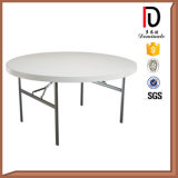 160cm Plastic Restaurant Round Folding Dining Table for 8 People