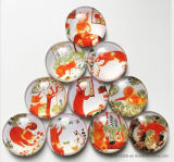 Cheap Promotion Custom Crystal Glass Dome Fridge Magnet for Home Decoration