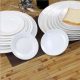 China Ceramic Plate Wholesale Restaurant White Round Dinner Plates Hotel Plates