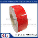 PVC Honeycomb Solid Color Design Red Reflective Safety Tape (C3500-OR)