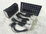 Solar Home Lighting System with Flashlight Function