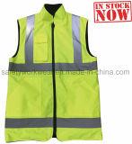 Reversible Hi Vis Workwork Stock Safety Men's Vest (Reflective)