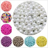 Factory Wholesale Many Colors DIY Sewing Loose Beads ABS Plastic Round Pearl Beads with Hole for Handmade
