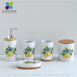 Modern and Contracted Lemon Bamboo Pottery and Porcelain Defends Bath Kit 4