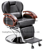 Barber Chair with Different Color Solid Wood Armrest for Man in Salon Beauty