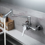 Wall-Mounted Brass Kitchen Sink Mixer Faucet (F5)