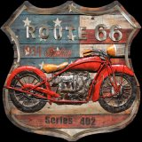 China Manufacturer Acrylic Painting Wall Art for Rout 66 Motor