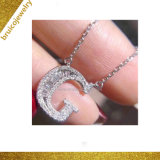 Wholesale 18K Gold Plated Jewelry 925 Sterling Silver Jewellery Alphabet Letter Necklace with Baguette Zirconia