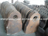 Manganese Wear Casting Parts Hammer Grates Liners for Metal Shredder Recycling