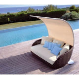Supplier of UV-Resistant Rattan Pool Sofa Outdoor Furniture (CL-1019)
