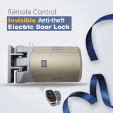 No Wiring Easy to Installation More Secure Anti-Theft 433MHz Invisible Door Lock with 2 Remotes