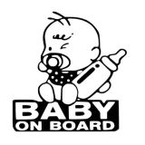 Driving Warning Reflective Sign Baby on Board for Traffic Safety