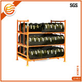 Good Quality Auto Industry Collapsible Storage Warehouse Folding Heavy Duty Stacking Truck Metal Tire Rack