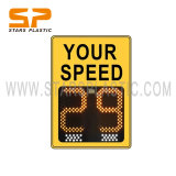 Car Alarms Swing Solar LED Radar Speed Signs Meter China Speed Control Limit Remove Detector Display Speed Radar