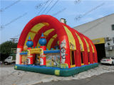 Giant Inflatable Fun City Park with Roof Quality Inflatable Factory in China