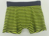 Yarn Dye Green Black Strip Cotton Children Underwear Boy Boxer Short Boy Brief