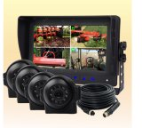 Rear-View System with Digital Quad Monitor, Color CCD Camera