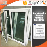 European Style Solid Wood Aluminum Window with Tilt and Turn Opening