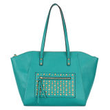 Metalic Decoration Green Shoulder Handbags (MBNO032134)