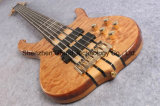 6 Strings Handmade Electric Bass Guitar Active Pickups (GB-18)