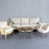 3 Seate White Antique Furniture Living Room French Sofa