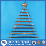 Christmas Wooden Ladder Design with LED for Hanging Ornament