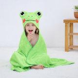 High Quality Wholesale Stock Cute Cartoon Character Kids Baby Hooded Bath Towel