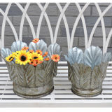 Iron Metal Flower Plant Pot Set Garden Decoration
