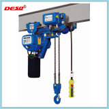 Portable Electric Chain and Wire Rope Hoist with Hook