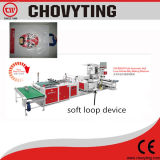 Automatic Plastic LDPE PE Shopping Carry Handle Bag Making Machine