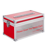 Desktop Business Name Card Collection Storage Box with Glass Window