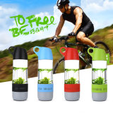 Creative Bluethooth Speaker Water Travel Bottle with Compass for Sports