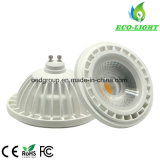 White Case Aluminum AR111 GU10 Dimmable LED Input Voltage of 12V or AC120V or 230V