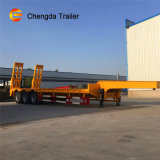 3 Axle 4 Axles 45-60 Tons Flatbed Lowbed Cargo Heavy Duty Transport Heavy Equipment Semi Trailer for Sale