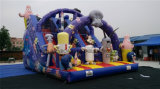 China Factory Direct Wholesale Popular Cartoon Double Inflatable Slides