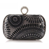 Designer Women Party Bag Fashion Sequin Ring Clutch Bag