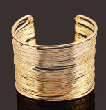 Fashion Open Alloy Gold Bangle Bracelet Jewellry Jewelry