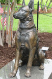 Life Size Cast Brass Statue of Dog for Home Decoration