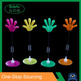 Supermarket Pop Palm Display with Clip for Display Price Merchandise Adhesive Base