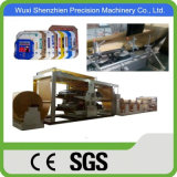 Middle Raphe Glue Paper Bag Machine with Plastic Film