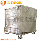 Wholesale Price Logistics Wire Metal Storage Container for Pet Preform Industry with Plastic Sheet