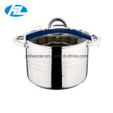 Stainless Steel Stock Pot with Glass Lid Induction Compatible