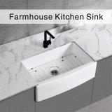 China Sanitary Ware Bathroom Washing Basin Reversible Deep 30 Inch Apron Front Fireclay Ceramic Kitchen Sink