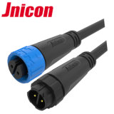 Jnicon 2 3 Pin Waterproof Wire to Wire Circular Connector with Quick Connection