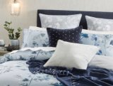 100% Cotton 360 Thread Count Cotton Sateen Print-Silvery Blue
