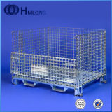 Wire Mesh Container Metal Cages Stackable Warehouse Supermarket