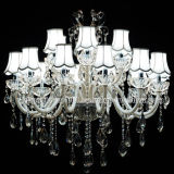 Traditional Design Crystal Chandelier Lighting for Hotel or Home (S-8023-12+6)