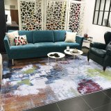 Machine Made Polyester Abstraction Wilton Carpet, Area Rugs